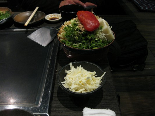 明太子とチーズのもんじゃ焼