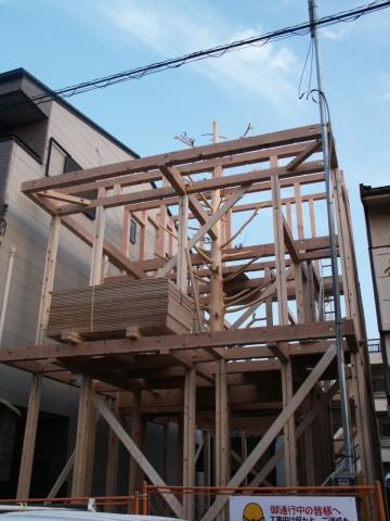 木造在来工法,建て方