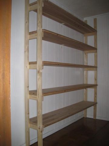 杉三層ボードの棚