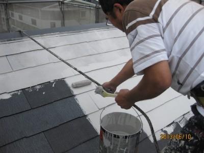 屋根スピンオフ塗装工事