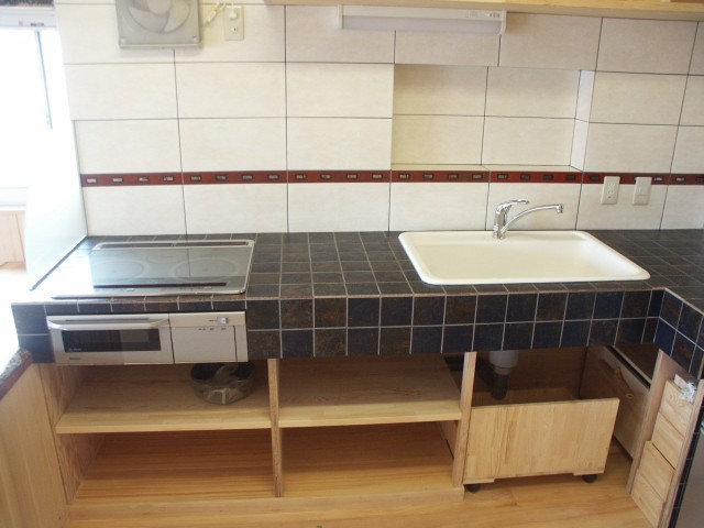 タイルのキッチン