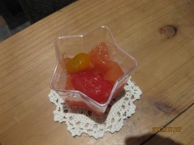 トマトのジュレ