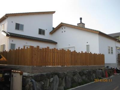 外構木製フェンス