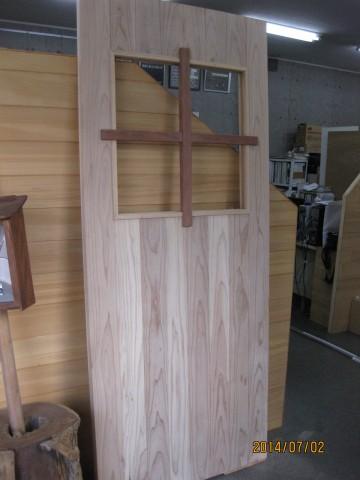 木製建具,杉巾ハギ