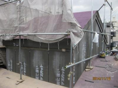 土蔵屋根下地,土蔵壁