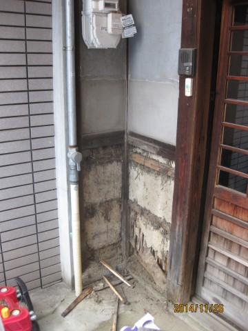 古民家,玄関改修