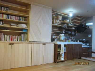 もみの造り付け収納,造り付け家具