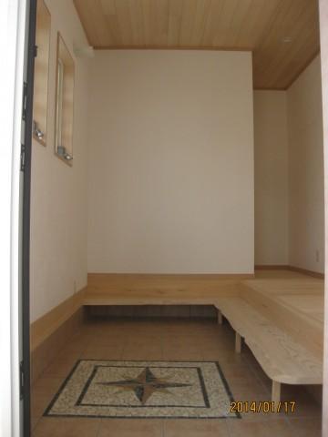 玄関式台,樅無垢材