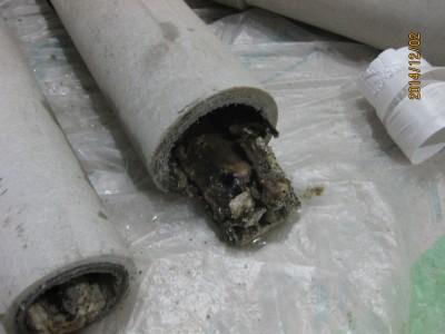 排水配管のつまり