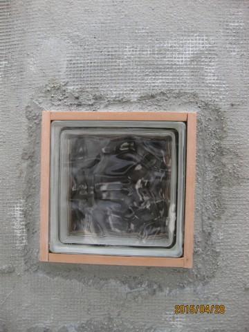 外壁塗装,アースカラー,ガラスブロック