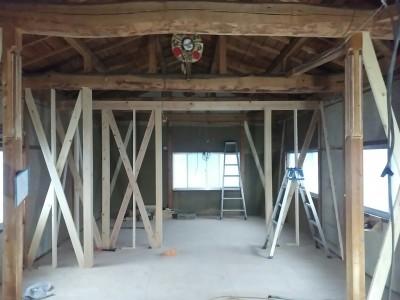 土壁の家,リノベーション改修工事,構造補強