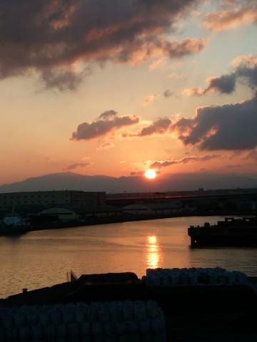 初日の出,泉大津大橋