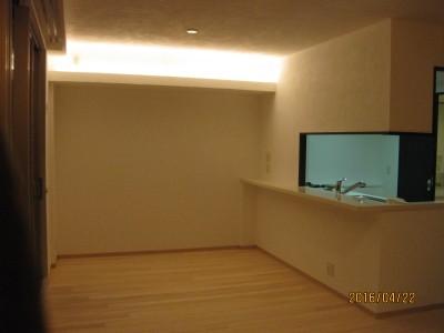 間接照明,造り付け収納家具,もみのきリフォーム