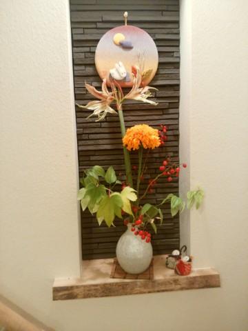 アマリリスの花,OB施主宅,もみのきの家