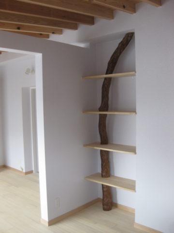 飾り棚,床柱の再利用