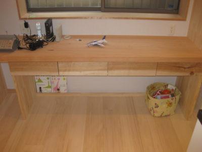 引き出し,造作家具,桜,面材