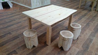 四角いテーブル,樅の木,天然乾燥材